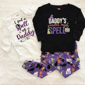 """Daddy's under my spell"" set"